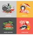 Japanese Culture Flat Icon Set vector image