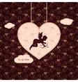 valentines angel background vector image
