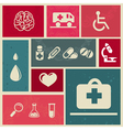 Medical icons and sign vector image