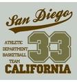 San Diego CA vector image