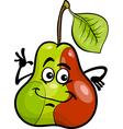 funny pear fruit cartoon vector image vector image