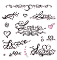 Valentines day lettering vector image vector image