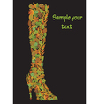 Decorative autumn shoe vector image vector image