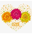 flowers hearts vector image