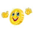 Smiling golden coin vector image