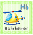 Letter H vector image