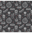 Fast food seamless pattern Hand drawn food vector image