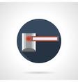 Closed passage round flat icon vector image
