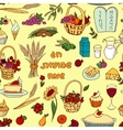 Shavuot seamless pattern background vector image