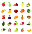 food fruits like apple and pear kiwi and orange vector image
