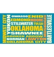 Oklahoma state cities list vector image