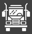 truck glyph icon transport and vehicle cargo vector image