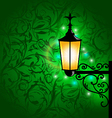 Arabic lamp with lights card for Ramadan Kareem vector image vector image
