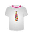 T Shirt Template- honeycomb bottle vector image vector image