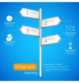 Direction post in Infographic Background vector image vector image