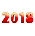 3d 2018 lettering vector image