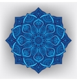 Blue floral round ornament vector image