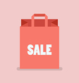 Shopping Bag in flat style vector image