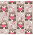 Bear with heart seamless pattern vector image