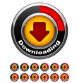 chrome download buttons vector image