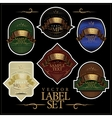 Detailed ornate various color label set vector image
