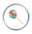 Lollipop icon in cartoon style isolated on white vector image