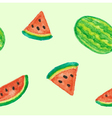 Seamless of Watermelon vector image