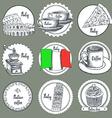 Sketch Italian icons vector image