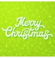 White 3d lettering on green Christmas background vector image