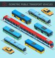 public transport vehicles vector image vector image