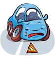 Car Crashed Cartoon vector image vector image