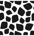 Abstract geometric black white seamless pattern vector image