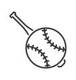 Baseball line icon vector image
