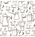 coffee seamless pattern design vector image