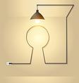 Creative keyhole with light bulb idea vector image
