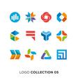 logo collection 5 vector image