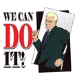People in retro style WE CAN DO IT vector image