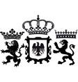 Royal insignia and crowns vector image