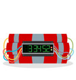 ticking time bomb vector image