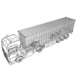 truck abstract drawing wire-frame eps10 vector image