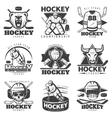 Vintage Hockey Labels Set vector image