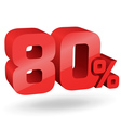 80 percent digits vector image