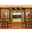 A saloon bar vector image