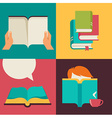 Book and reading concept design vector image vector image