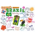 Summer in Brazil vector image