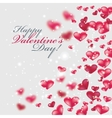 Flying red hearts Happy Valentine Day vector image