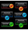 colorful download banners vector image vector image