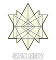Abstract geometric figure with rhombus triangle vector image
