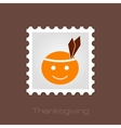 American Indian children stamp Thanksgiving day vector image