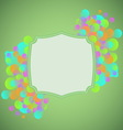 Celebration concept on green background vector image